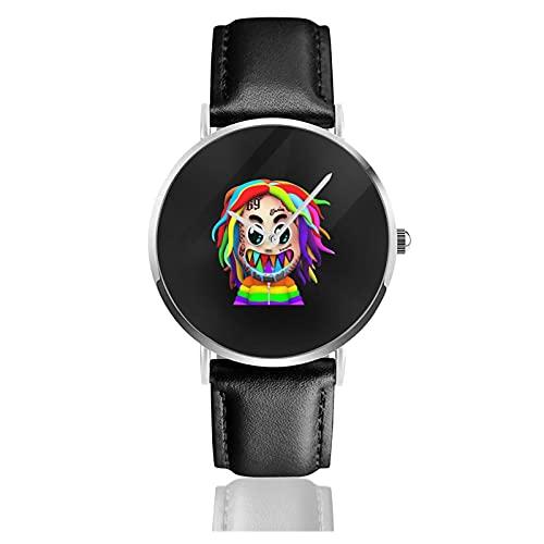 腕時計 メンズウォッチ うで時計 シックスナイン レディース クォーツ時計 Watch 革 レザー バンド カジュアル 調節が可能 極薄型 軽量 針表示式 箱付き 防水 ファッション バレンタインデー 父の日 プレゼント