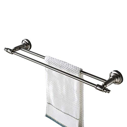 WEM Estante de baño para el hogar, hotel, baño o cocina Sus 304 Barra de toalla doble de acero inoxidable Toallero de pared para el hogar, hotel, educación e instituciones médicas Baño, superficie ce