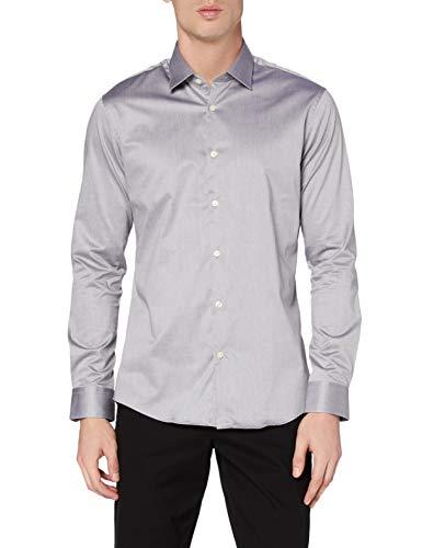 Marchio Amazon - MERAKI Camicia da Cerimonia Uomo, Grigio (Grey), M, Label: M