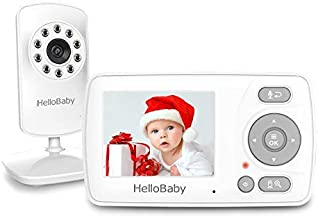 Video Baby Monitor with Camera and Audio, HelloBaby Monitor Two-Way Talk, Baby Monitor Infrared Night Vision, VOX Mode