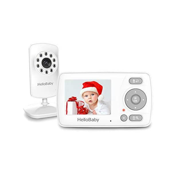 Video Baby Monitor with Camera and Audio, HelloBaby Monitor Two-Way Talk, Baby Monitor...