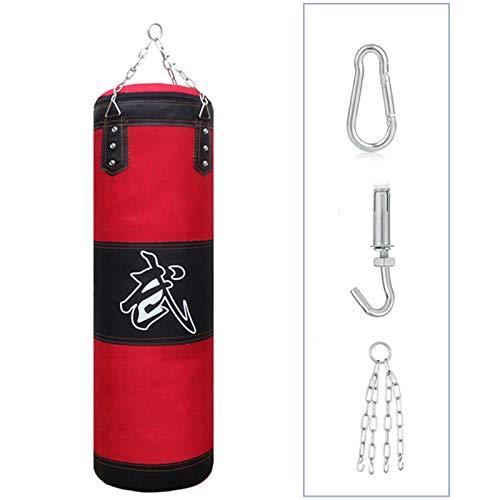 Sfeexun Heavy Bag Boxset für Männer Frauen Kinder, ungefüllter Boxsack mit Deckenhaken und Ketten für MMA, Kickboxen, Muay Thai, Karate, Taekwondo