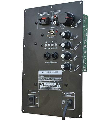 MODULO AMPLIFICATO PANNELLO POSTERIORE RICAMBIO CASSE ACUSTICHE CON BLUETOOTH USB-SD-ECHO AMPLIFICATORE