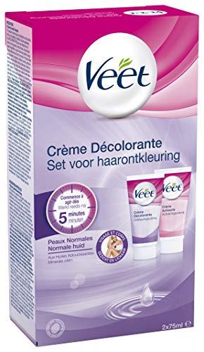 Veet Crème Décolorante Visage et Corps - 2 Flacons de 75 Ml