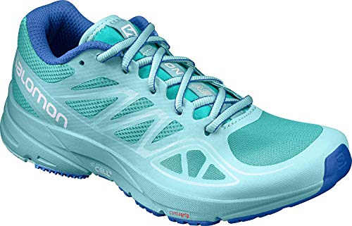 Salomon Women's Sonic Aero Running Shoes, Ceramic/Aruba Blue/Nautical Blue, 10 M US