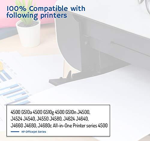 DONKEY PC - 901XL 901 XL Cartuchos de Tinta para Impresoras HP Officejet 4500 G510a 4500 G510g 4500 G510n J4500, J4524 J4540, J4550 J4580 (Negro/Color) | 900 páginas Negro | 360 páginas Color