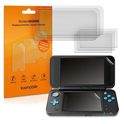 kwmobile 4X Protector de Pantalla Compatible con New Nintendo 2DS XL - Salvapantallas Transparente para Pantalla Consola - Set de 4