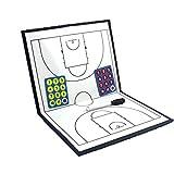 BaoYPP El Entrenador de fútbol portátil Herramienta Junta Junta Junta de Baloncesto Entrenador de Baloncesto Plegable magnético Set de estrategias y técnicas (Color : Photo Color, Size : 43x28cm)