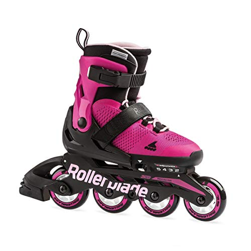 Rollerblade Microblade G, Pattini Bambina, Rosa/Bubblegum, 28-32