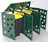 Cobertizo de basura, tapa de basura, baúl de basura, reciclaje de residuos, caseta triple, cubo de basura, cubo de basura, armario para la basura exterior, cubierta de basura para el exterior
