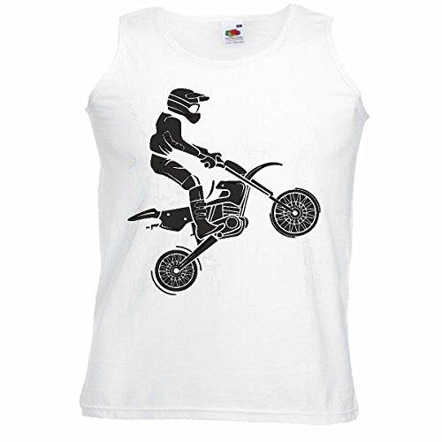 Spierhemd tank top Motocross silhouet Motocross Freestyle Motocross Motocross motorkleding motorkleding, mouwen in wit