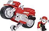 Paw Patrol, Moto Pups Marshall's Deluxe Pull Back Motorcycle Vehicle with Wheelie Feature and Toy Figure