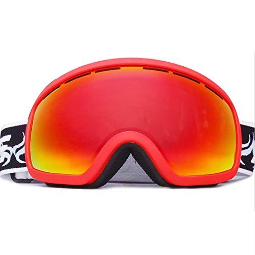 Somnrchun Ski Goggle Mountaineering Ski Masker Set Anti-mist voor Beginners Glas Lens Zwemmen Snorkeling Silicium 5 Kleuren kunnen worden Kies