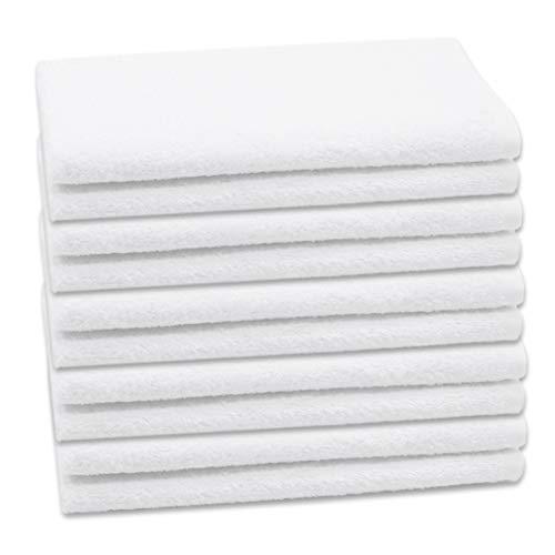 ZOLLNER 10 Toallas de tocador Blancas, 40x60 cm, algodón 100%, en Otra Medida