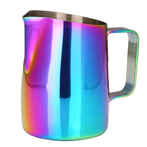 Dianoo Brocco Fumante Per Cappuccino Brocca Per Il Latte Espresso Acciaio Inossidabile Tazza Di Caffè Latte Art 420ml Multicolore