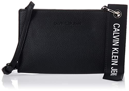 Calvin Klein Damen Ckj Banner Small Crossbody Umhängetasche, Schwarz (Black), 0.1x0.1x0.1 Centimeters