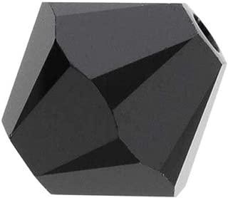 100pcs 6mm Adabele Austrian Bicone Crystal Beads Jet BlackCompatible with Swarovski Crystals Preciosa 5301/5328 SSB623