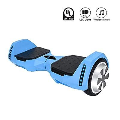 CXMScooter 6.5 inch Self-Balance Scooter w/Bluetooth Speaker UL2272 Certified (Blue)