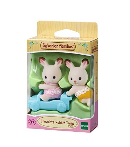 Sylvanian Families - Le Village - Les Jumeaux Lapin Chocolat - 5420 - Jumeaux et Bébés - Mini Poupées