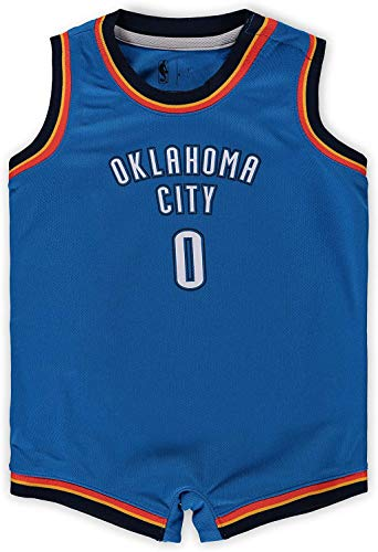 Outerstuff Russell Westbrook Oklahoma City Thunder Blue Infants Road Icon Edition Romper Jersey (12 Months)