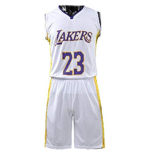GSCCC divise da Basket, maglie James 23# Lakers Divise da Allenamento, Set di divise da Basket riutilizzabili, Magliette Sportieve assorbenti del sudore traspiranti per i Fan