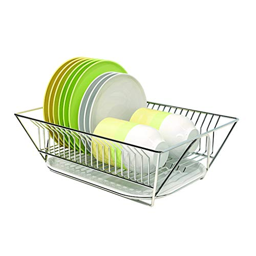Dish Drainer Stylish Simplicity Dish Rack for Kitchen Storage Tableware Fruits and Vegetables Drain Rack In Sink Metal Dish Drainer Kitchen Rack