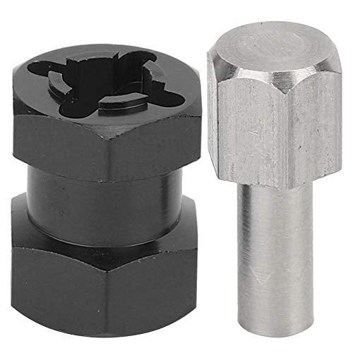 RC Hex Adapter, RC Verlängerungsrad Hex Hub Metal Driver Adapter Kompatibel mit D90 AX10 CC01 SCX10 F350( Schwarz)