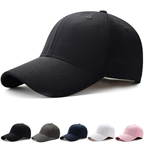 キャップ メンズ【2020最新昇級版 コットン100% 帽子】【UPF50+ UVカット99%】 無地 シンプル 野球帽 日よけ 紫外線対策 カジュアル ランニング 登山 釣り ゴルフ 運転 アウトドアなどに 調節可能 (#01.ブラック)