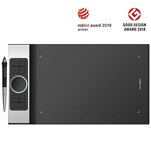 XP-PEN Deco Pro el Último Lanzamiento de la Tableta Hace su Debut como el Ganador del Premio Red Dot Design Award 2019 y el Ganador del Premio Good Design Award 2018 Small y Medium (M)
