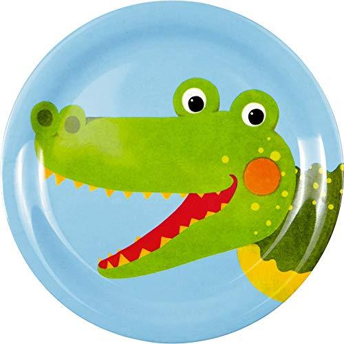 Die Spiegelburg 15168 Melamin-Teller Krokodil Freche Rasselbande