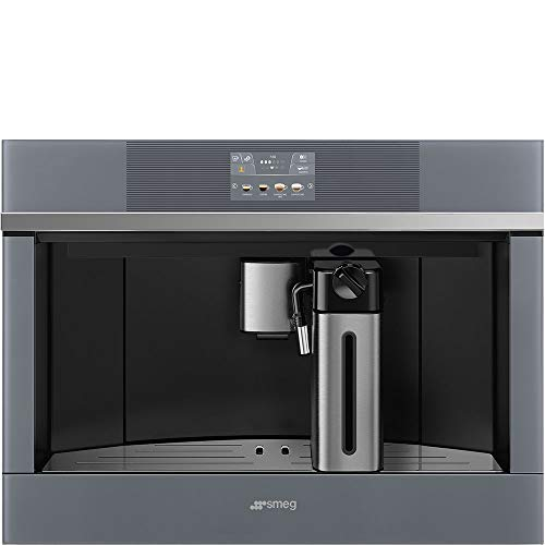 Smeg CMSU4104S Linea Aesthetic Fully Automatic Built-In Coffee System, 24-Inches