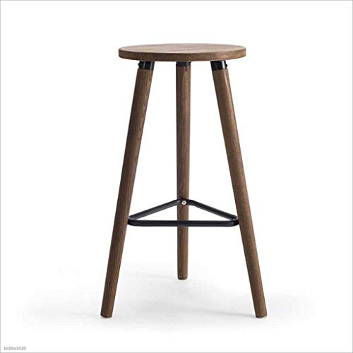 TX ZHAORUI massief houten stok kruk hoge kruk houtkwaliteit Coffee Shop Business Hall bar kruk 32 × 32 × 66,5 cm