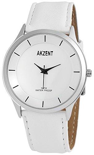 Akzent Herren Analog Quarz Uhr mit Leder Armband SS7522500015