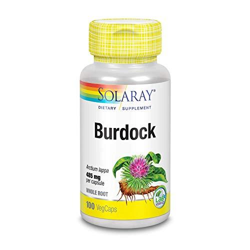 Solaray Burdock Root 485 mg | Healthy Liver, Kidney, Digestion, Circulation, Joint & Skin Support | Non-GMO & Vegan | 100 VegCaps