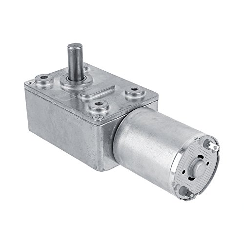 Akozon Getriebemotor Reversible Hochdrehmoment Turbo Schnecke Getriebe Gleichstrommotor DC 12V Metall Geschwindigkeitsreduzierung Elektromotor 5/6/20/40/62 (U/MIN) (6RPM)