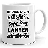 N\A Law Mug Lawyers 11Oz Cup - Funny Sexy Lawyer Wife Shirt - Tazas de Regalo de Lawyer Wife para Estudiante de Derecho