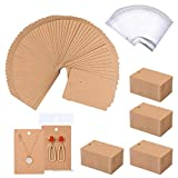 500 Pack Earring Cards - Earring Holder Cards with 500 Pcs Bags, Earring Display Cards for Earrings Necklace Display and Jewelry Packaging