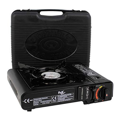 We-Ball Camping Kocher Gaskocher mit praktischem Koffer für den Transport des Grills   2,3 kW Leistung mit Piezo Zündung   Gaskocher einzeln