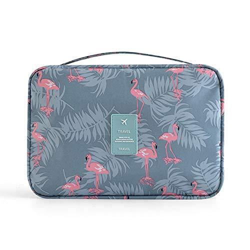 Kulturtasche Kosmetiktasche Kulturbeutel zum Aufhängen Damen Herren Jungen, Kulturbeutel, Reisetasche, Schminktasche, Waschbeutel, Toiletry Bag(Flamingo)