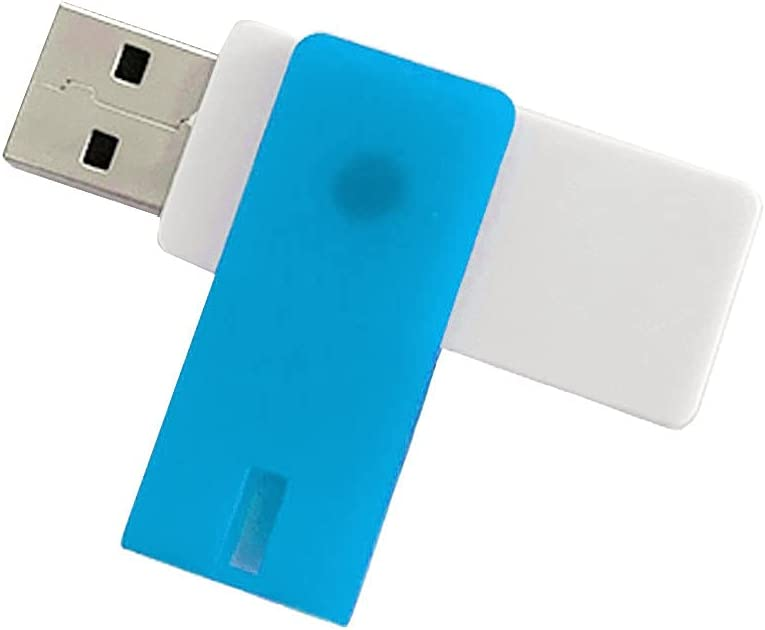 USB Flash Drive 2TB Flash Memory Stick High Speed Flash Drive Thumb Drive Jump Drive Memory Stick with Rotated Protective Shell (Blue)
