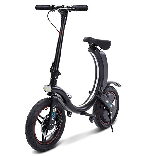 Gyroor 450W Folding Electric Bike, Up to 23MPH with 20 Miles Range, 14 Inch Air-Filled Tires, 3...