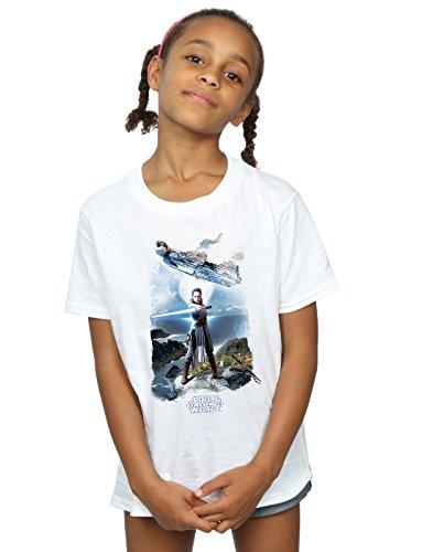 Star Wars niñas The Last Jedi Rey Falcon Camiseta 12-13 Years Blanco