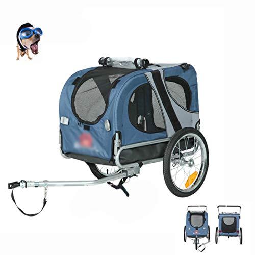 Opvouwbare Huisdier Fietskar Hond Kat Fietsdrager Stalen Frame Jogger Kit Waterbestendig Reizen Blauw (Geschikt Voor 40 Kg Huisdieren)