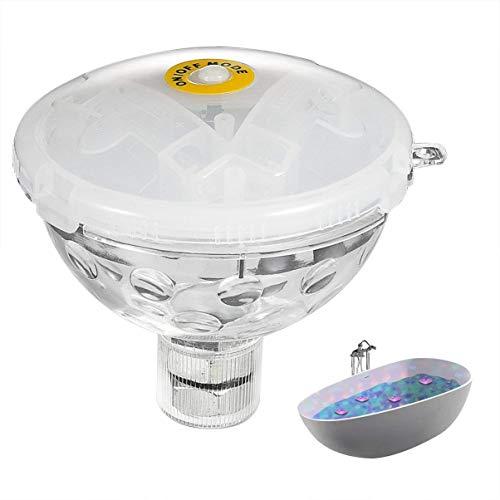 LEDGLE Pool Licht LED Unterwasserlicht Badewanne Beleuchtung,5 Blitzmodi, IP68 Wasserdicht, Batteriebetrieben