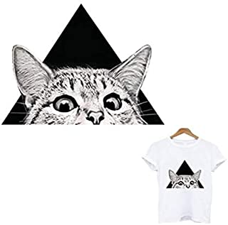 Cute cat Patch Iron on Patches for Clothing Application of one Another Thermal Labels Iron-on Transfer Stripes for Clothes toppe