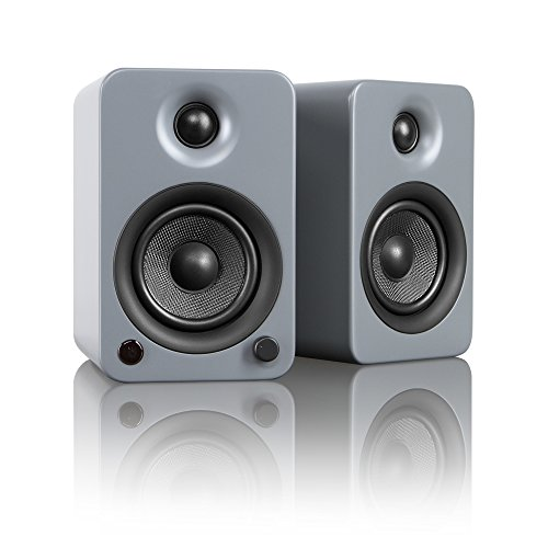"Kanto YU3 4"" 2-Way Powered Bookshelf Speakers with aptX Bluetooth 4.0 - Gloss White (YU3GW)"