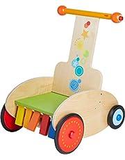 HABA 304793 - Andador con Freno Ajustable para Aprender a Andar de Forma Segura, Incluye Asiento de Transporte, Sonido y Efecto de traqueteo, Juguete para bebés a Partir de 10 Meses