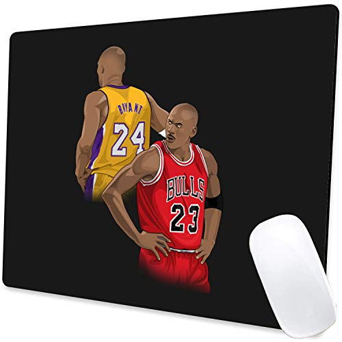 Gaming Mouse Pad,Kobe and Jordan Mouse Pad Non-Slip Rubber Base Mouse Pads for Computers Laptop Office,9.5'x7.9'x0.12' Inch(240mm x 200mm x 3mm)