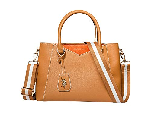 U.S. POLO ASSN. Envelope Stitch Satchel Tan One Size