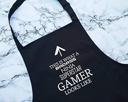 ArthuereBack Dit Is Wat Een Badass Gamer Lijkt Schort Gift Koken Bakken BBQ Voor Gaming Pro Video Games Speler Enthousiaste Console PC Games